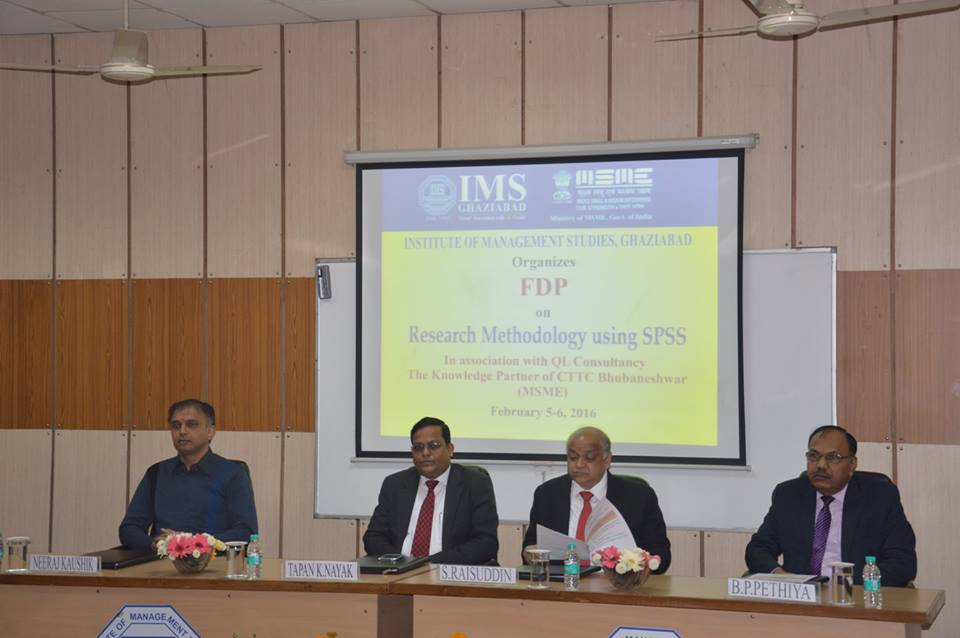 FDP on Research Methodology Using SPSS